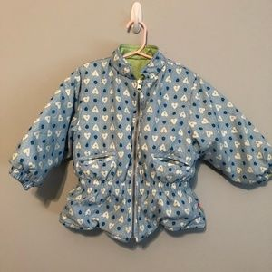 Gymboree Cotton Candy Reversible Puffer coat